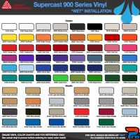 Avery 900 Series Supercast Color Options - Wet Installation Vinyl