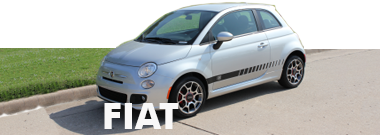 Fiat 500 Stripes Decals Vinyl Graphics