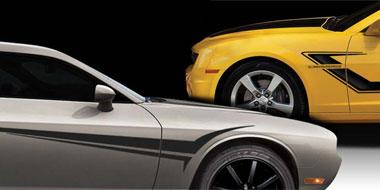 TSUNAMI Automotive Vinyl Graphics Universal Fit Decal Stripes - Auto graphics for carillusionsgfx custom automotive graphics
