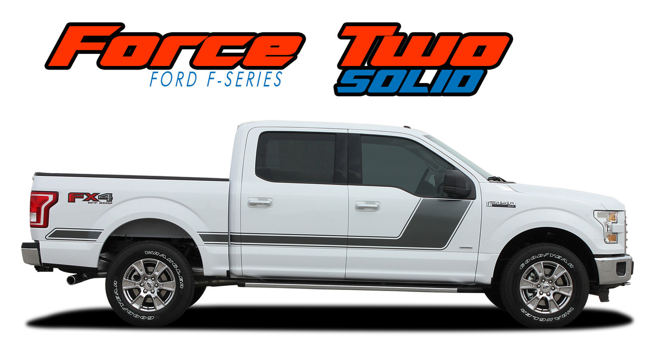 Force Two Solid Ford F150 Door Stripes F150 Decals