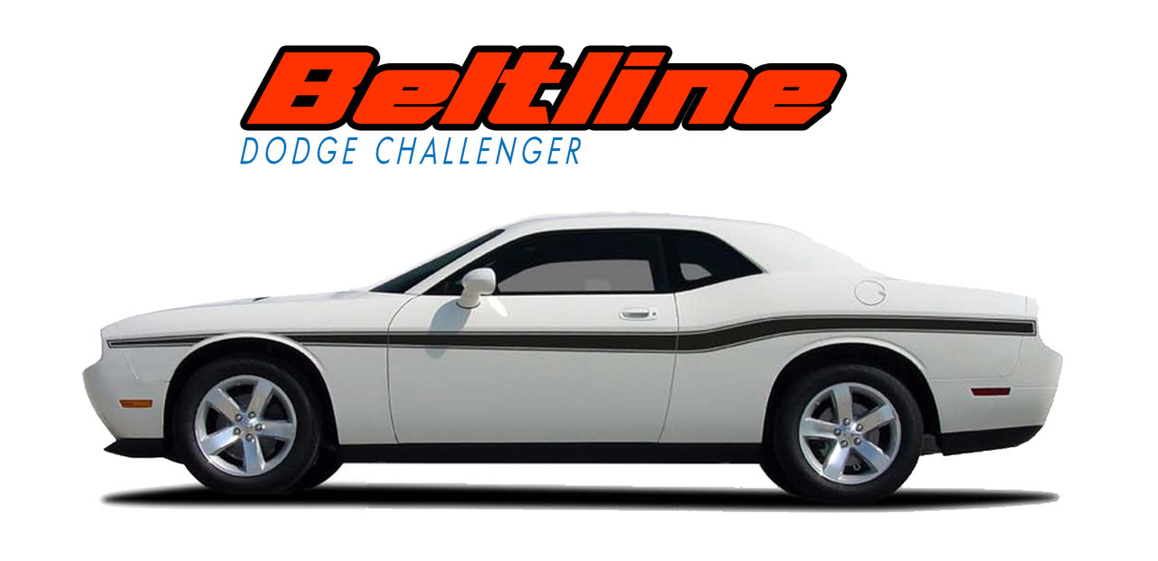 BELTLINE Dodge Challenger Stripes Challenger Decals Vinyl - Vinyl graphics for a car