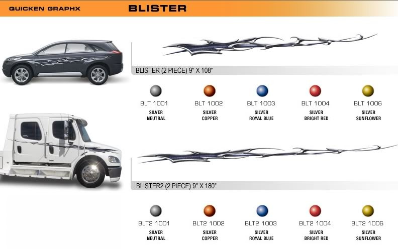 BLISTER Universal Vinyl Graphics Decorative Striping And D Decal - Decal graphics inc