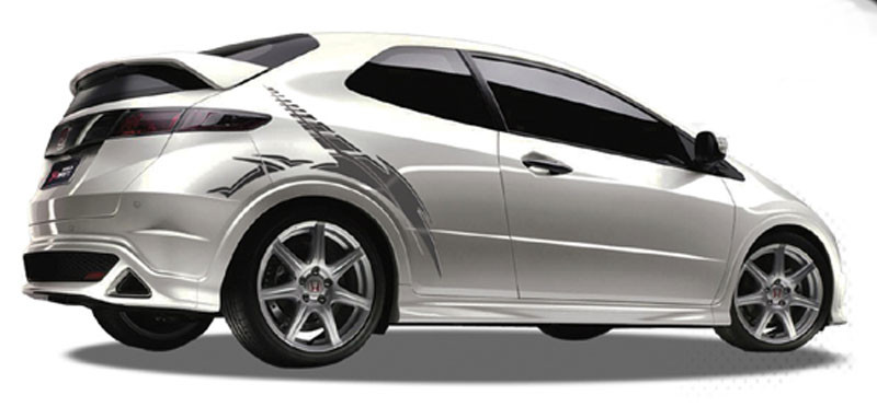 blade automotive vinyl graphics universal fit decal stripes kit pictured  honda civic