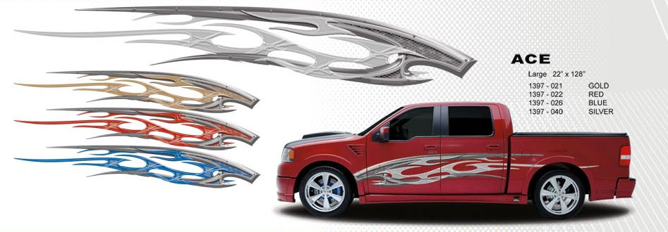 Ace universal fit automotive vinyl graphics decals stripes for cars trucks suv trailers vans and