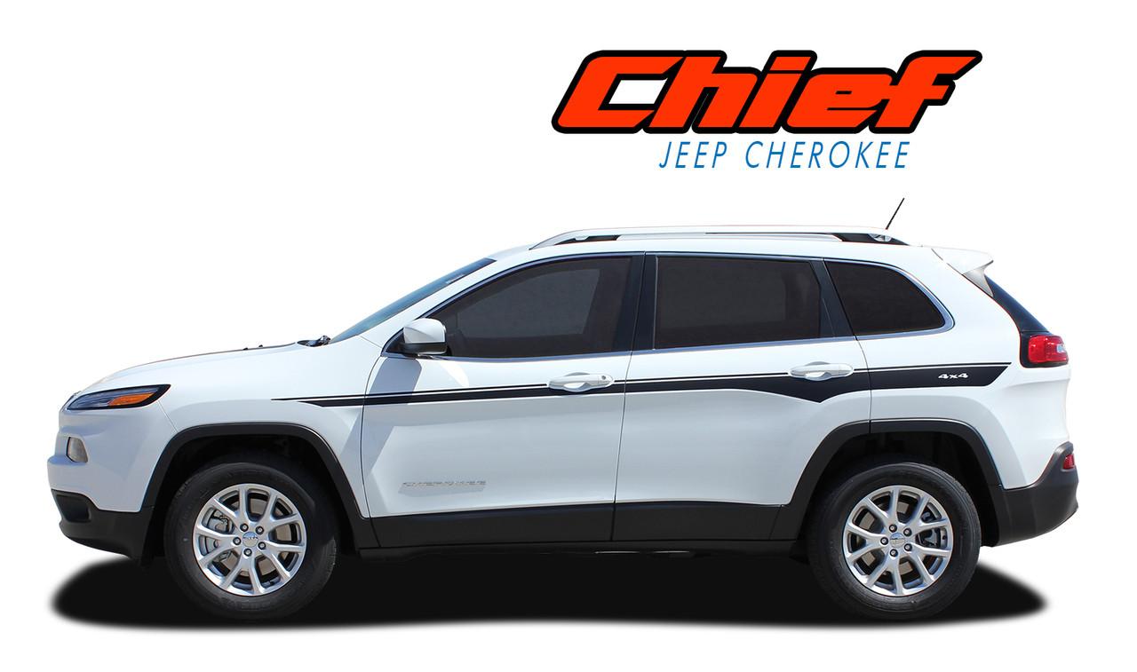 chief : 2013-2017 jeep cherokee upper body line accent vinyl
