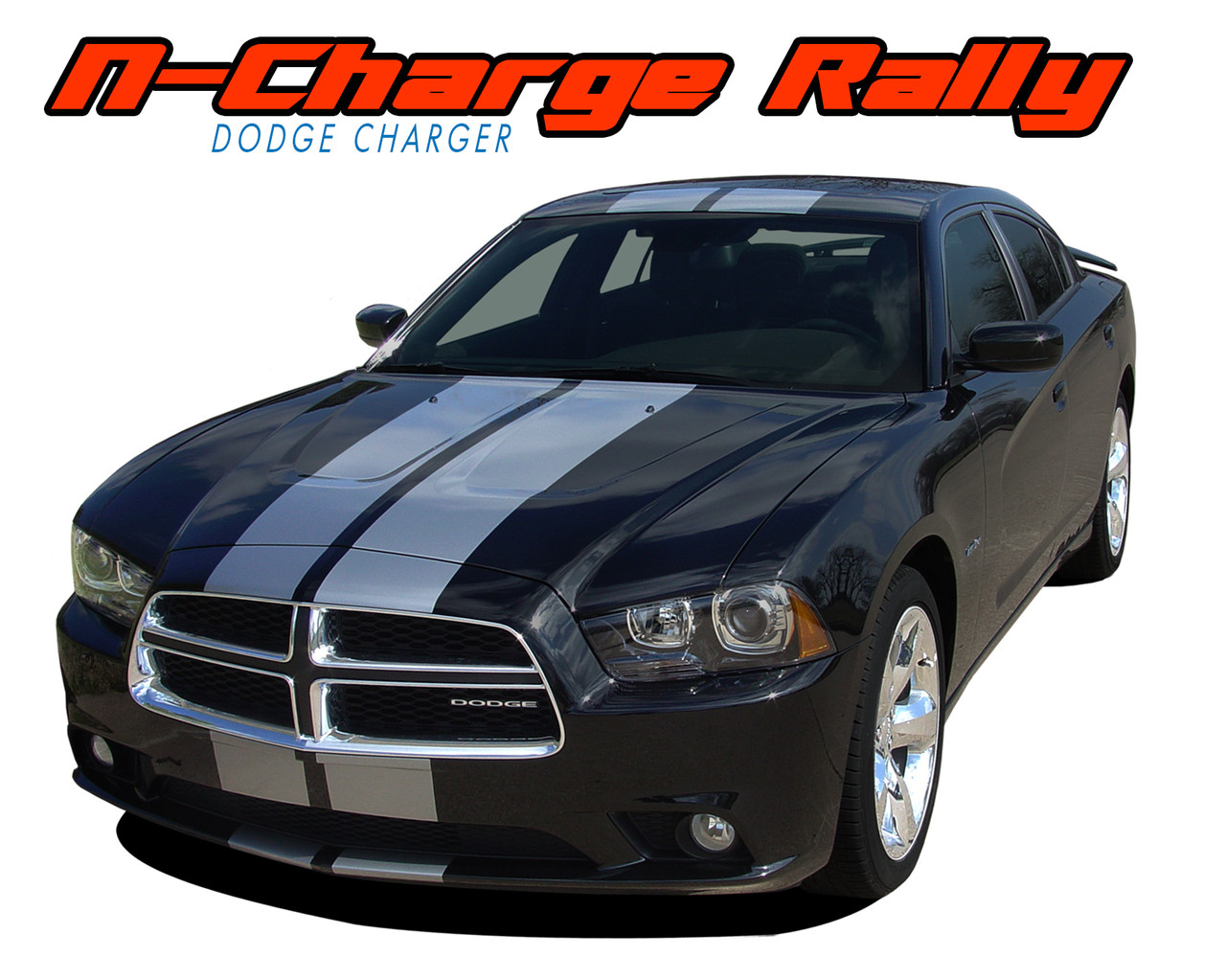 Challenger Rally 2 Racing Stripes Vinyl Graphic Rally | Autos Post