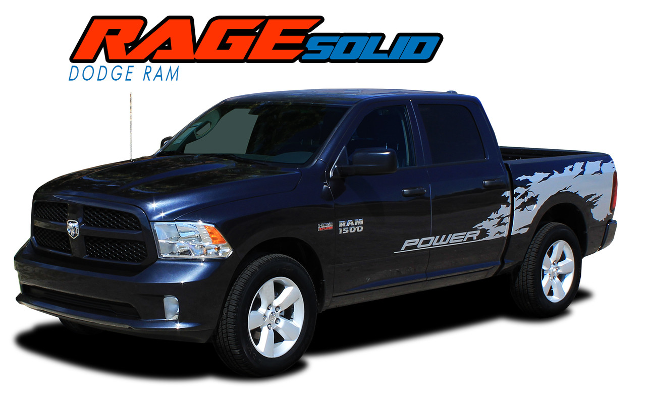 Dodge Ram Truck Side Stripes Vinyl Graphics Decals RAM RAGE - Truck decal graphics