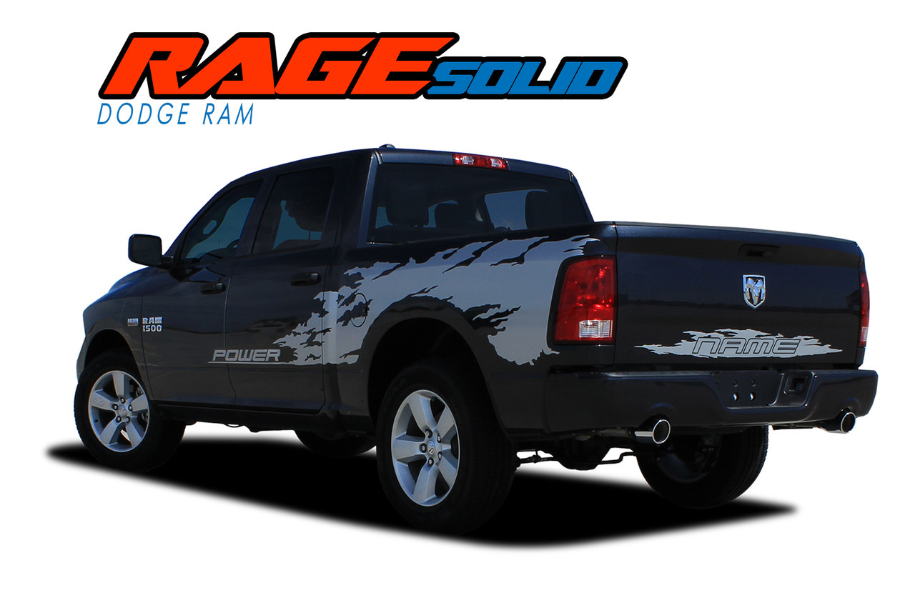 Dodge Ram Truck Side Stripes Vinyl Graphics Decals RAM RAGE - Truck bed decals customford fvinyl graphics for bed fender
