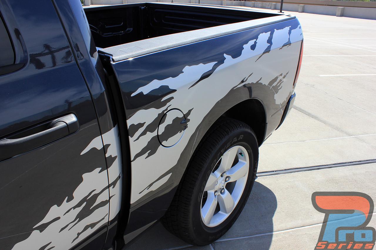 Dodge Ram Truck Side Stripes Vinyl Graphics Decals RAM RAGE - Vinyl graphics for trucks