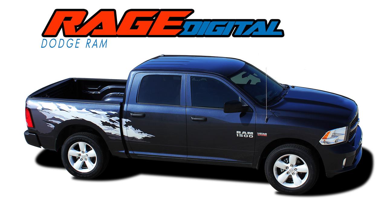 RAM RAGE DIGITAL   Dodge Ram Power Wagon Style Digital - Truck decal graphics
