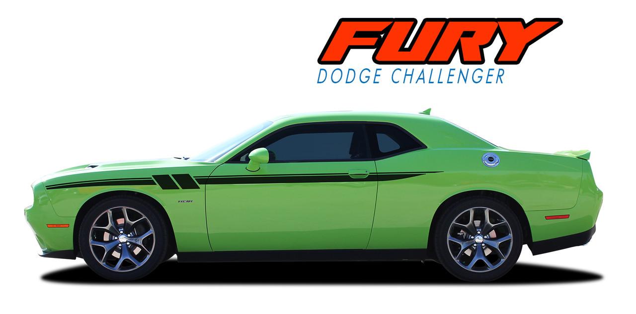 FURY  2011 2012 2013 2014 2015 2016 2017 2018 Dodge Challenger Door to Fender Hash Upper Stripe Accent Vinyl Graphics Decal Kit (VGP-3183)  sc 1 st  VinylGraphicsPro & FURY | Dodge Challenger Stripes | Challenger Decals | Vinyl Graphics