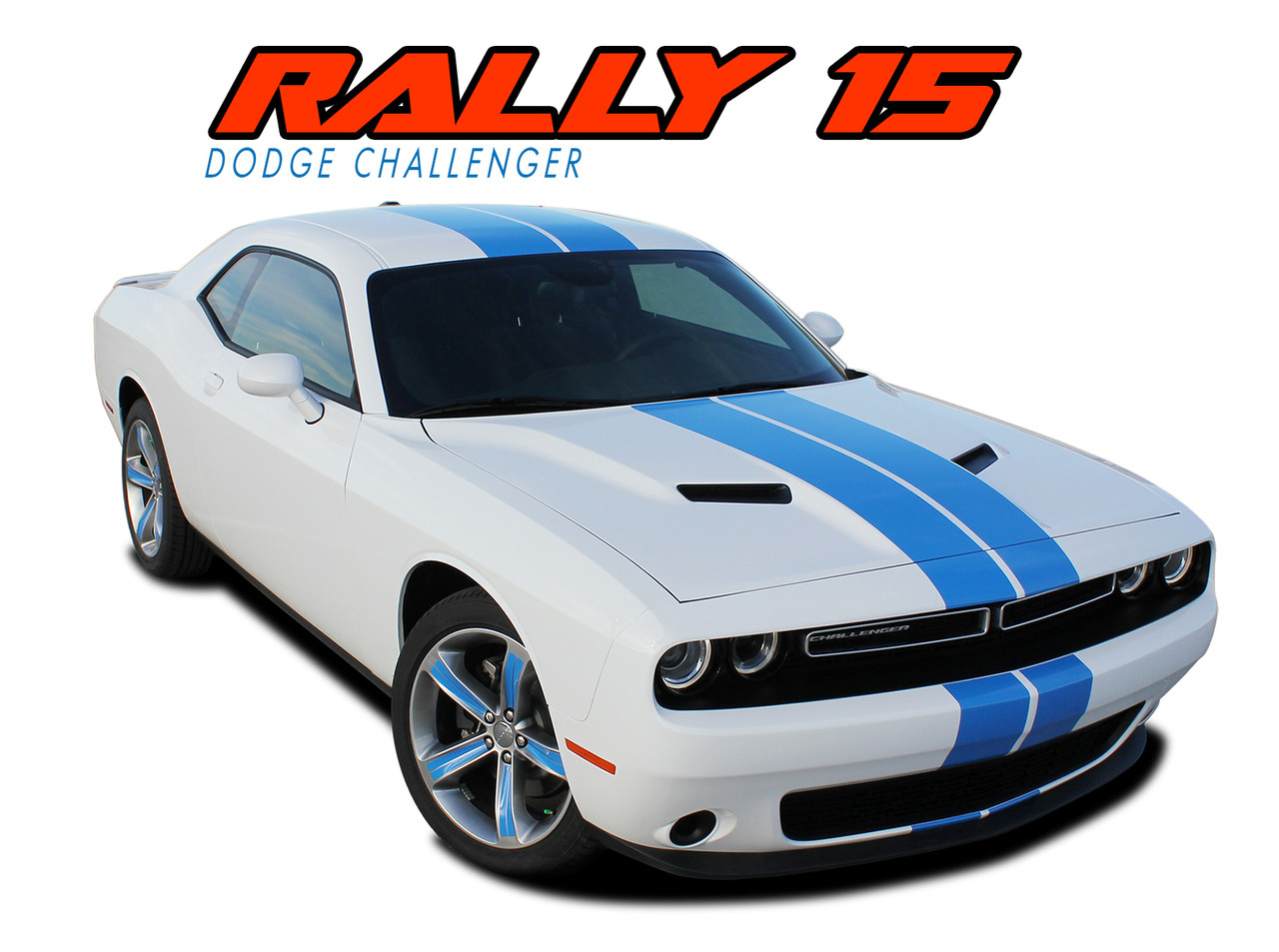 Dodge Challenger Racing Stripes Vinyl Graphics Decals