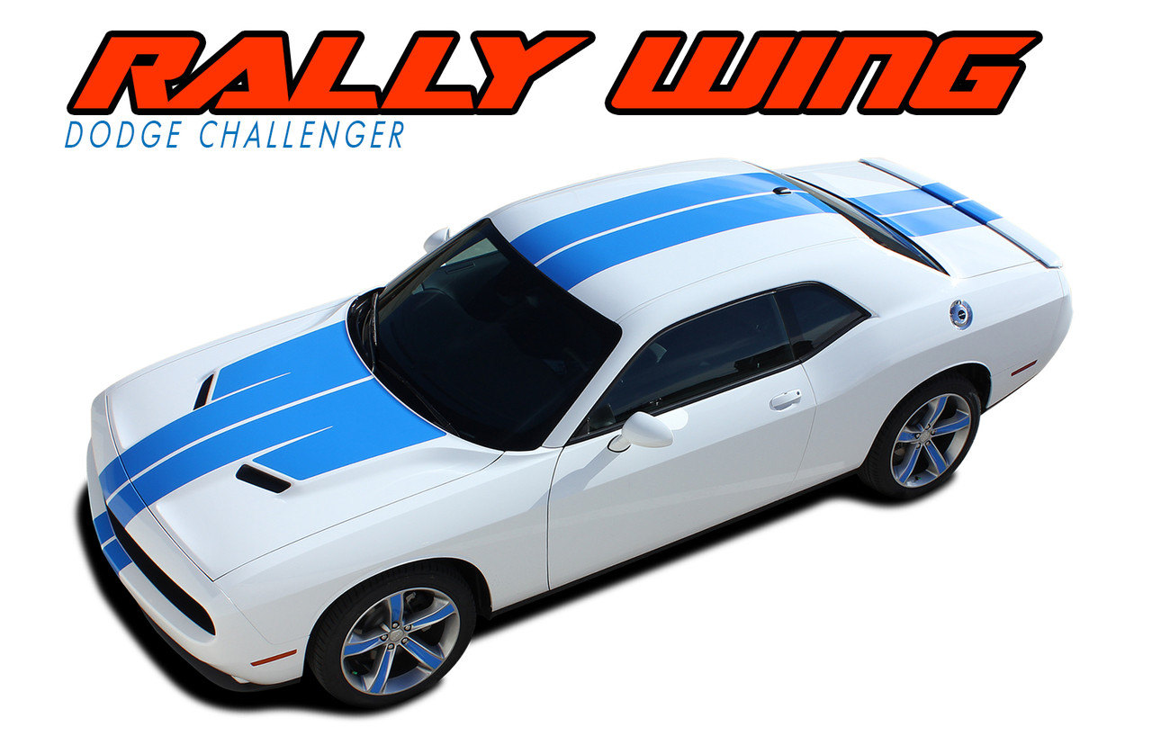Rally Wing 15 Dodge Challenger Stripes Challenger