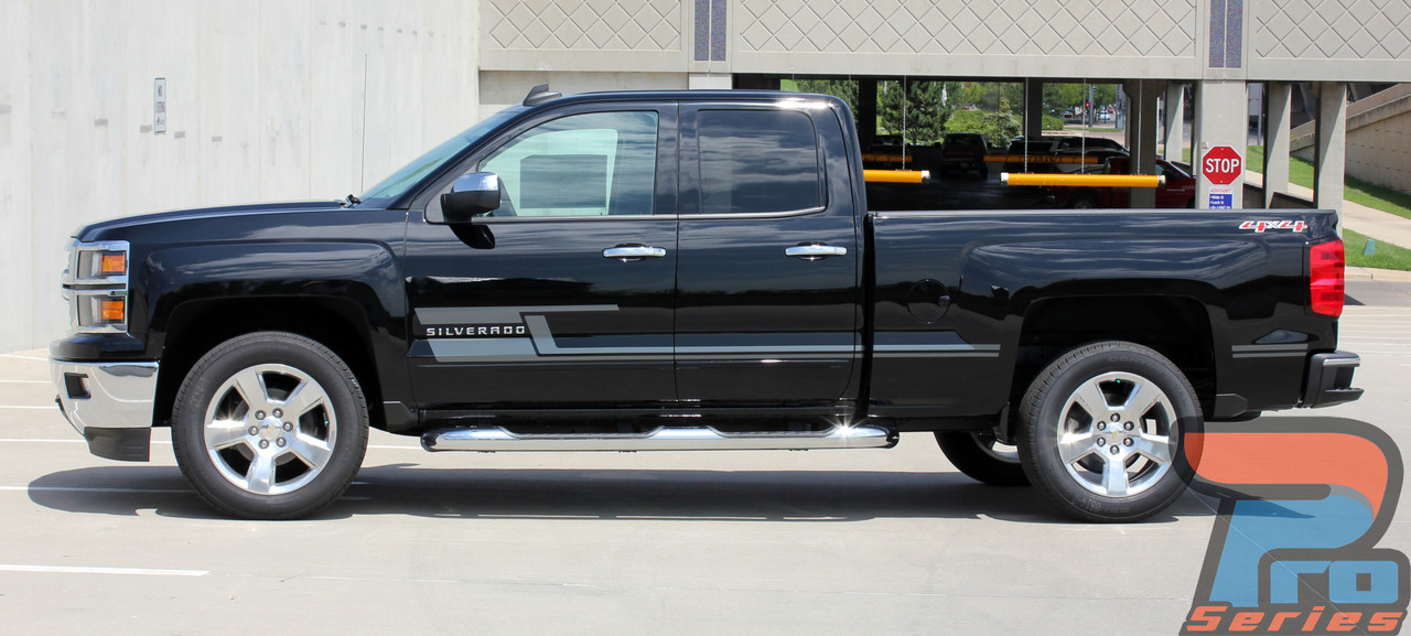 Shadow Silverado Door Stripes Silverado Decals