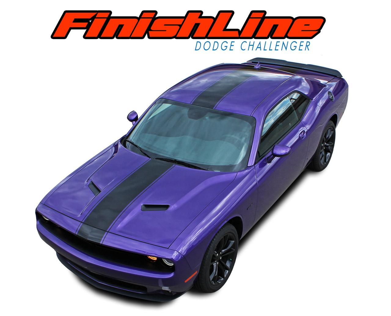 Finish Line Dodge Challenger Hood Stripes Challenger