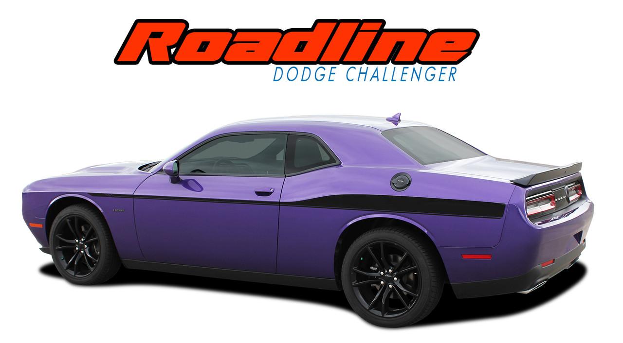 Roadline 2011 2012 2013 2014 2015 2016 2017 2018 dodge challenger wide upper door vinyl graphics side stripes accent decals vgp 4248