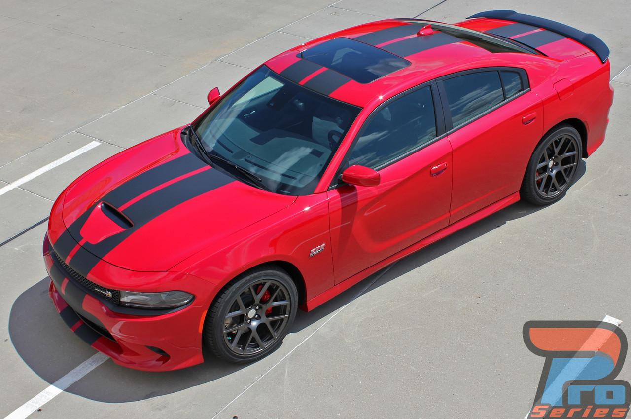 charger dodge scat pack racing rally vinyl graphics stripes hellcat decals srt 392 hood charge stripe rt kit mopar hemi