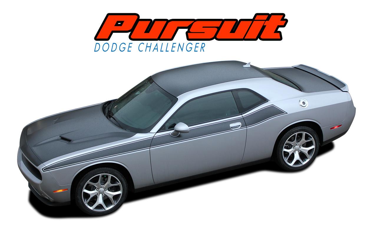 PURSUIT Dodge Challenger Stripes Challenger Decals Vinyl - Vinyl graphics for a car