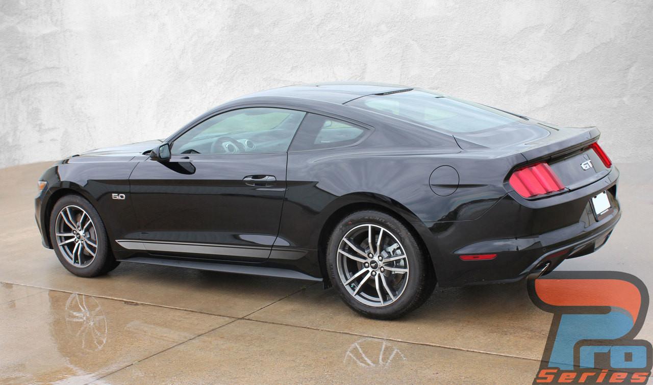 2017 Dodge Challenger 4 Door >> FADED ROCKERS | Ford Mustang Door Stripes | Mustang Decals | Vinyl Graphics