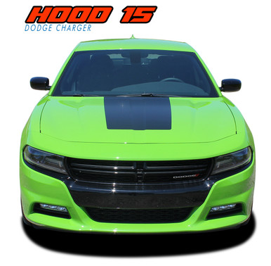 hood 15 dodge charger stripes daytona charger decals. Black Bedroom Furniture Sets. Home Design Ideas