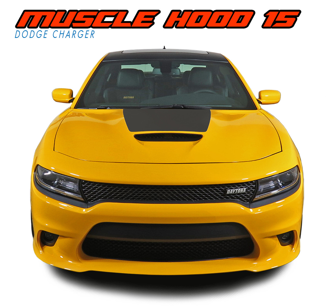 2018 dodge hemi. simple 2018 muscle hood 15  2015 2016 2017 2018 dodge charger hemi daytona rt srt 392  hellcat mopar blackout style center hood vinyl graphics decals kit vgp4968 to dodge hemi a