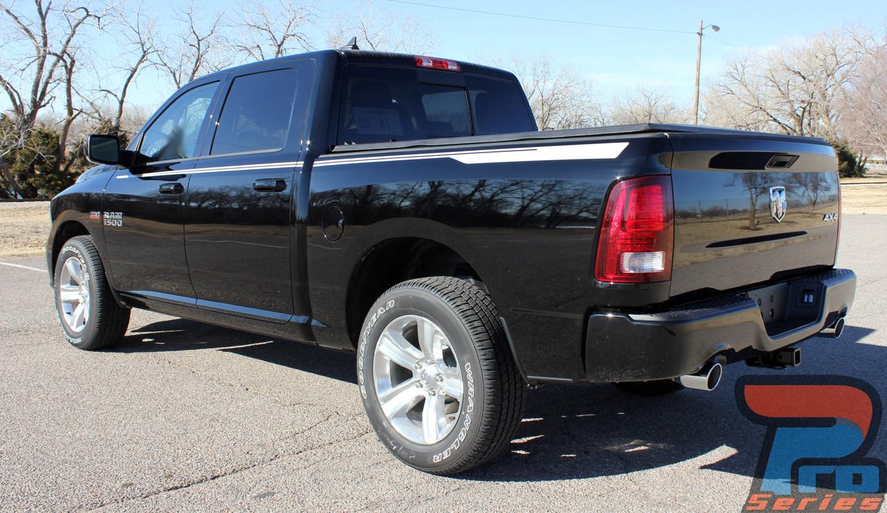 Dodge Ram Truck Vinyl Graphics Decals Stripes Hood Spike Bed Accent M Vgp Hustle on 2011 Camaro Hood Spear