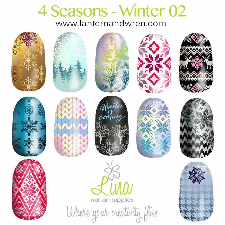 Winter 02 Nail Stamping Plate