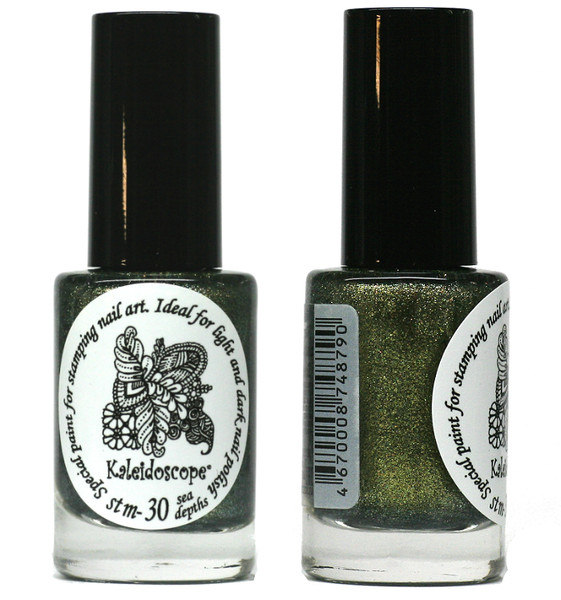Kaleidoscope No. Stm-30 - Sea Depths Nail Stamping Polish by El Corazon, 9 ml, available at www.lanternandwren.com.