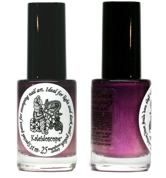 Kaleidoscope No. Stm-25 - Magnificent Century shifting Nail Stamping Polish by El Corazon, 9 ml, available at www.lanternandwren.com.