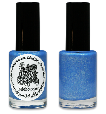 Kaleidoscope No. Stm-34 - Blue Hawaii shifting Nail Stamping Polish by El Corazon, 9 ml, available at www.lanternandwren.com.