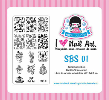 Sugar Bubbles SBS-01 nail stamping plate, available in the USA at www.lanternandwren.com.