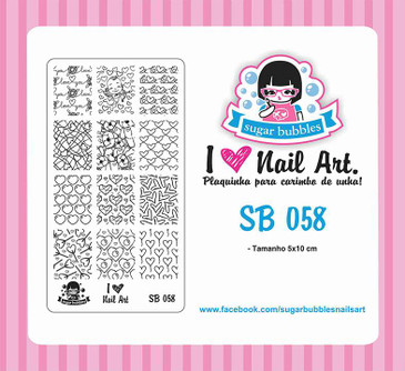 Sugar Bubbles SB058 nail stamping plate, available in the USA at www.lanternandwren.com.