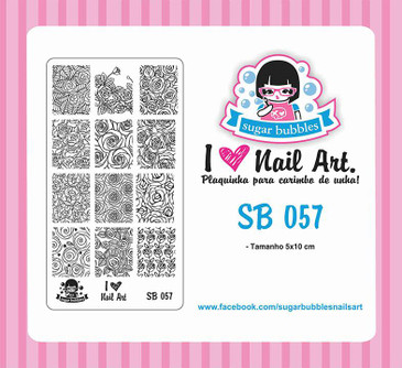 Sugar Bubbles SB057 nail stamping plate, available in the USA at www.lanternandwren.com.