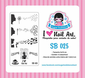 Sugar Bubbles SB025 nail stamping plate, available in the USA at www.lanternandwren.com.