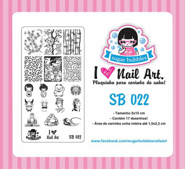 Sugar Bubbles SB022 nail stamping plate, available in the USA at www.lanternandwren.com.