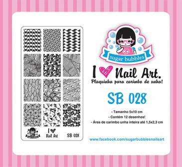 Sugar Bubbles SB028 nail stamping plate, available in the USA at www.lanternandwren.com.