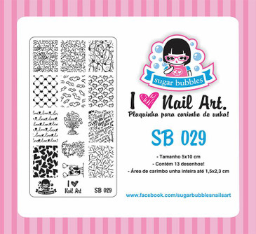 Sugar Bubbles SB039 nail stamping plate, available in the USA at www.lanternandwren.com.