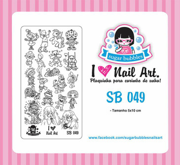 Sugar Bubbles SB049 nail stamping plate, available in the USA at www.lanternandwren.com.