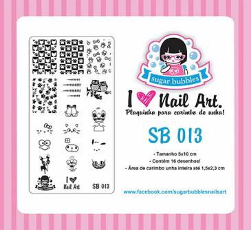 Sugar Bubbles SB013 nail stamping plate, available in the USA at www.lanternandwren.com.