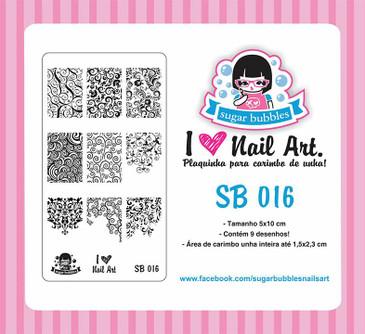 Sugar Bubbles - SB016 Mini Nail Stamping Plate