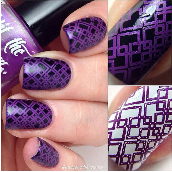 Call a Plumber, Hit the Bottle stamping nail polish. Available at www.lanternandwren.com.