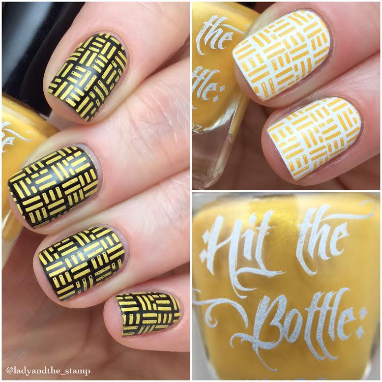 The Yolk is on You, Hit the Bottle stamping nail polish. Available at www.lanternandwren.com.