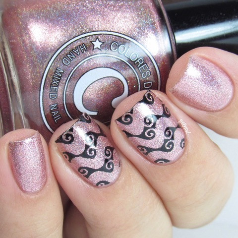 Get Chevron nail art stamping plate by Uber Chic. Available at www.lanternandwren.com.
