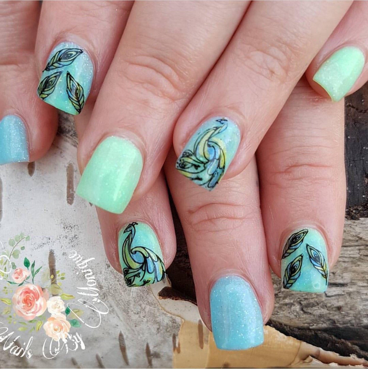 ... Peacocku0027s Garden Nail Stamping Plate By Clear Jelly Stamper. Available  In The USA At Www ...