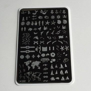 Treasures of the Sea nail stamping plate by Clear Jelly Stamper. Available in the USA at www.lanternandwren.com