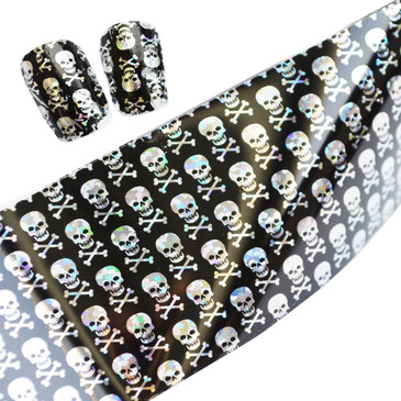 Skull and crossbones pattern nail foil. Available at www.lanternandwren.com.