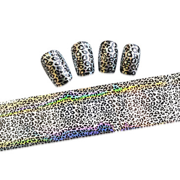 Cheetah pattern nail foil. Available at www.lanternandwren.com.