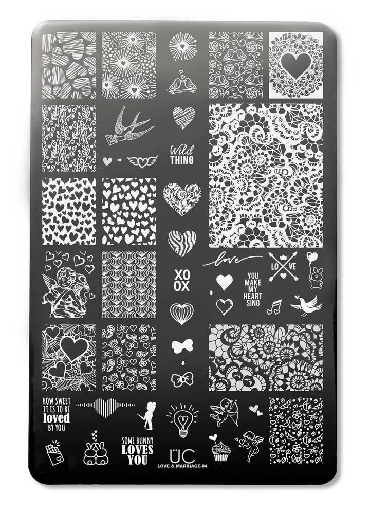 Uber Chic Love and Marriage 04 nail stamping plate. Available at www.lanterandwren.com.