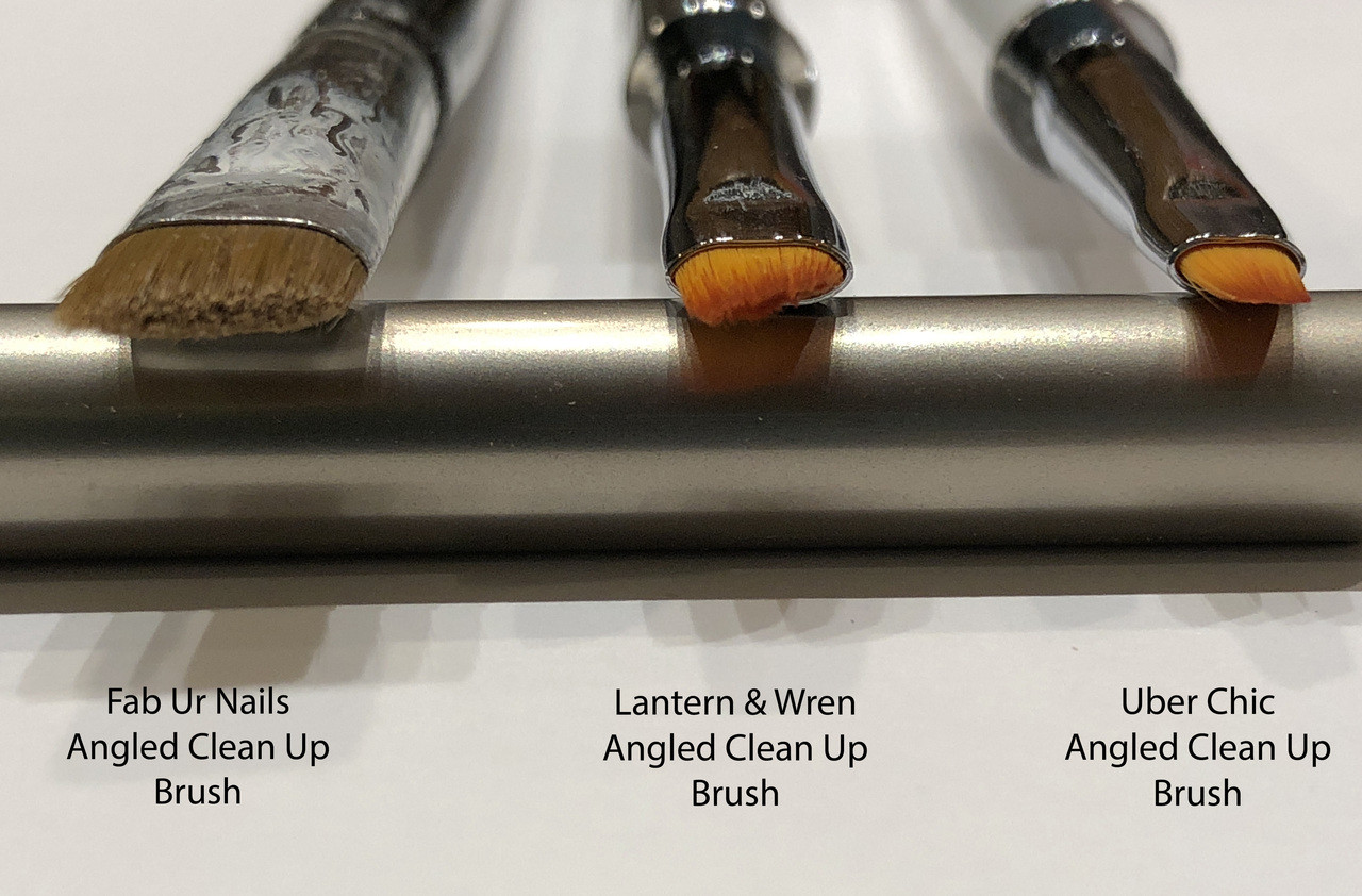 Lantern & Wren Angled Clean Up Brush, available only at www.lanternandwren.com.