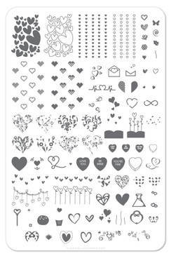 Show the Love (CjS V-05) - Nail Stamping Plate